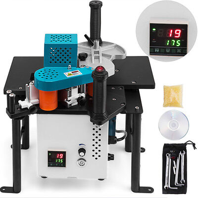 Woodworking Portable Edge Banding Machine 0.3-3mm Thick Wood Working 15W Motor