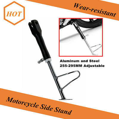 1Pcs Motorcycle Scooter Foot Kickstand Side Stand Holder Adjustable CNC Aluminum