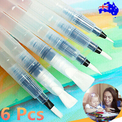 6X Water Color Brush Pen for Drawing Refillable Pilot Paint Brush Art Painting