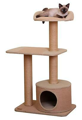 PetPals Cat Tree & Scratching Post Condo with Top Perch