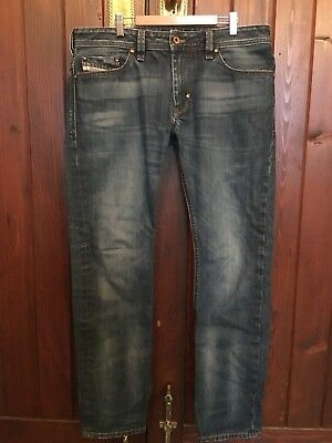 Diesel Blue Denim Jeans Size Waist 34 Made In Italy