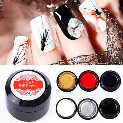 NailArt Wire Line Silk Point Creative Pulling Spider Painting Gel Varnish Gifts
