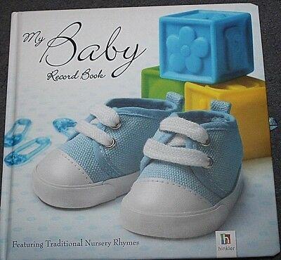 New Baby Boys record Book - MY BABY RECORD BOOK - a fill in keepsake book