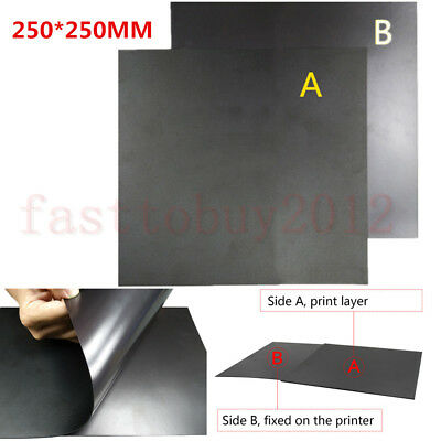 Sweet-Tempered 250mm Round Magnetic Adhesive Print Bed Tape A+b Print Sticker Build Plate Tape Flexplate For Kossel Delta 3d Printer 3d Printers & 3d Scanners Computer & Office