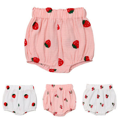 Infant Newborn Kids Baby Girls Panties Shorts Flower Bloomer Diaper Cover Briefs