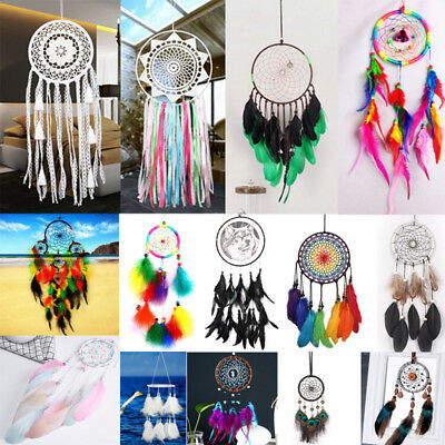 Fine Handmade Dream Catcher Feathers Decoration Car Wall Hanging Room Decor AU