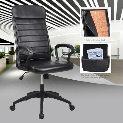 Office Chair Computer Desk Swivel PU Leather High Back Adjustable Seat Recliner