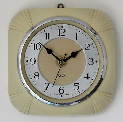 Vintage 16cm Smiths Sectric Wall Clock - NO GLASS Retro Bakelite Art Deco Gift