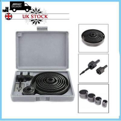 16pc/set HOLESAW KIT HOLE CUTTER SET PLUMBERS KITCHENS FITTERS FOR CUTTING WOOD