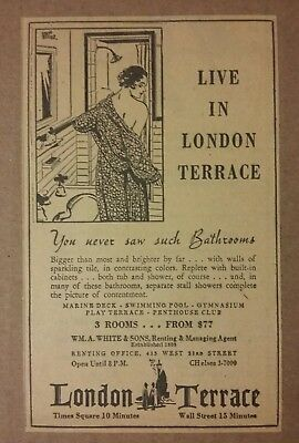1934 London Terrace Apartment Ad Live In