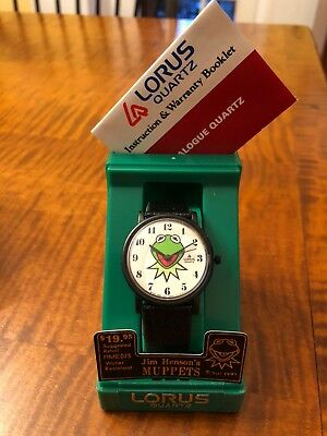 Vintage 1991 Kermit the Frog Watch   BY LORUS   Quartz Movemnt - New in Box