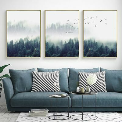 Wall Art Poster Abstract Landscape Forest Canvas Modern Nordic Style Paintings