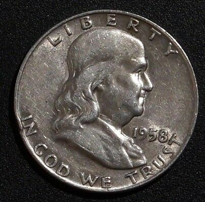 1958-D UNITED STATES Silver Half dollar Franklin - type I (76A)