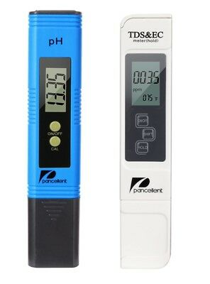 Water Quality Test Meter Pancellent TDS PH EC Temperature 4 in 1 Set (Blue)