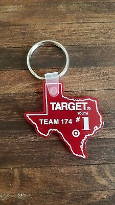 Vintage Rare Target Store Texas Team Member Rubber Keychain