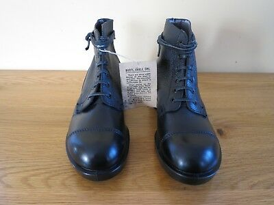 NEW British Military Army Leather DMS Boots UK Size 6 Large = Leather Boot Laces