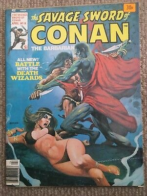 The Savage Sword Of Conan The Barbarian Comic April 1977 Vol 1 No 18