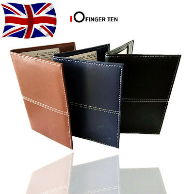 Golf Score Card Holder with 2 Score Sheets Deluxe PU Leather Yardage Book Cover