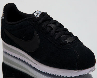 brand new 532e3 716ad NIKE WOMEN'S CLASSIC Cortez Premium Lifestyle Shoes Black Wolf Grey  AR5696-002