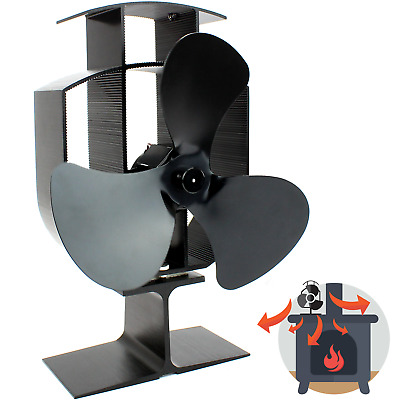 Heat Powered Stove Fan | Wood Log Burner Fireplace | Eco Friendly M&W