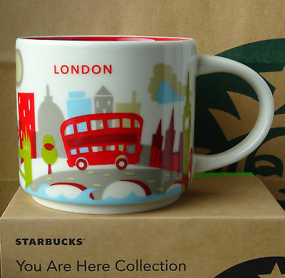 STARBUCKS 14oz LONDON You Are Here Coffee Mug Collection City Collector Cups
