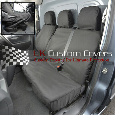 Citroen Dispatch Van Waterproof Heavy Duty Front Seat Covers Black 298 Hd