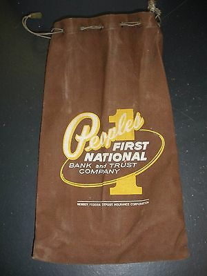 vintage Peoples First National bank and Trust Company money bag