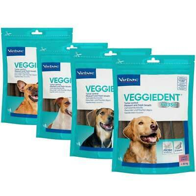 Virbac Veggie Dent Fr3sh 15 Dental Chews For Large Dogs Fresh Breath, Plaque