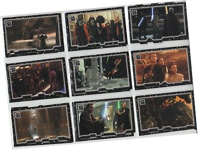 "Star Wars 30th Anniversary - 27 Card ""Tryptich Puzzle"" Chase Set (2007)"
