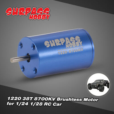 SUPERPASS HOBBY 1220 38T 8700KV Brushless Motor für 1/24 1/28 RC Auto A6L5