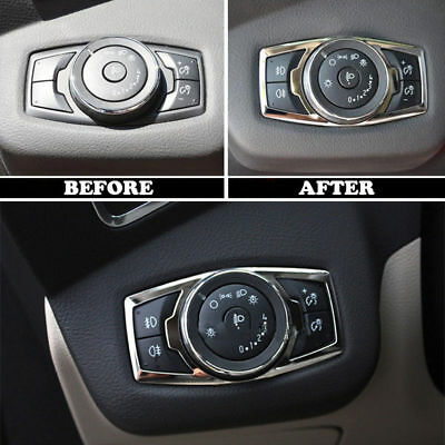 For 12- Ford Focus Kuga Chrome Fog Head Light Lamp Switch Button Cover Trim B
