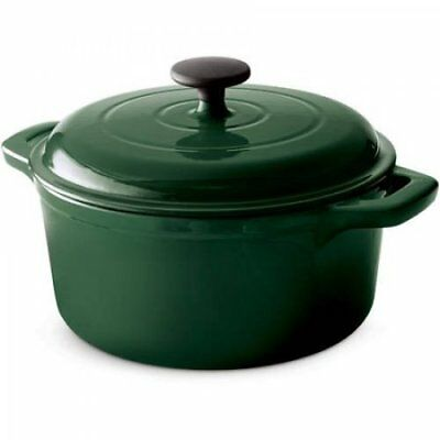 Tramontina USA, Inc. 80131/667 Enameled Cast Iron Round Dutch Oven 5.5 Qt Green