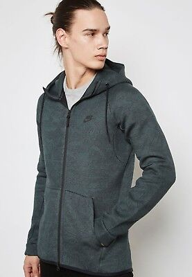 Men/'s Nike Tech Fleece Full-Zip Hoodie 863814-382 Vintage Green 100/% AUTHENTIC