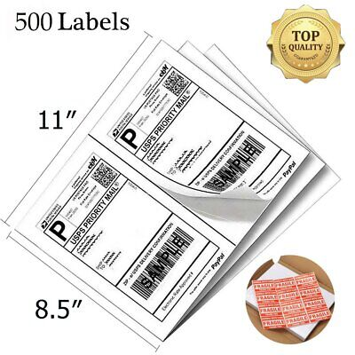 500 Direct Corner Half Sheet Shipping Labels 8.5x5.5 Self-adhesive USPS FedEx