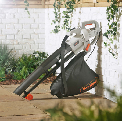 Leaf Blower Vacuum Mulcher Collector Sucker Electric Lawn Garden Tidying Wheels