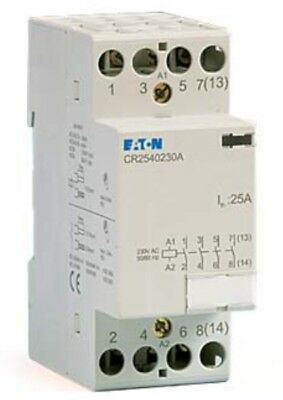 Eaton Cr2540230a Contactor 230v Coil 4 Pole N/c Contacts 25amp Relay Switch Mem3