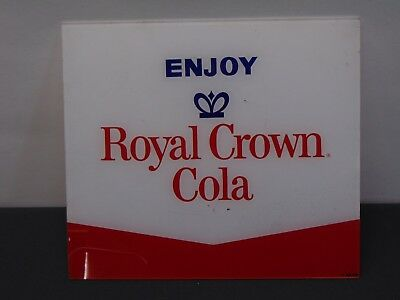 Royal Crown Cola ~  Plastic Sign or Machine Insert Advertising ~ Ships Free