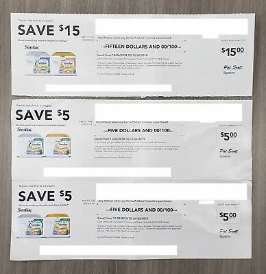 Similac $15 in Check Infant Formula Expires 12/20/2018