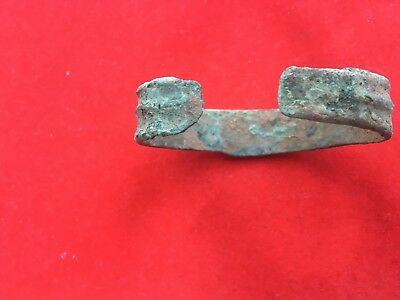 Metal detector finds №164  Ancient bronze  100% original Ancient  Bracelet