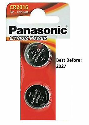 2Pcs Panasonic CR2016 3V Lithium Coin Cell Multipurpose Battery Watches Remote
