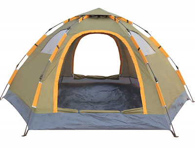 Pop up Camping Tent Portable 6 Person Family Waterproof Double Doors Vent Window