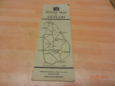 CEYLON motor map  1st edition 1938