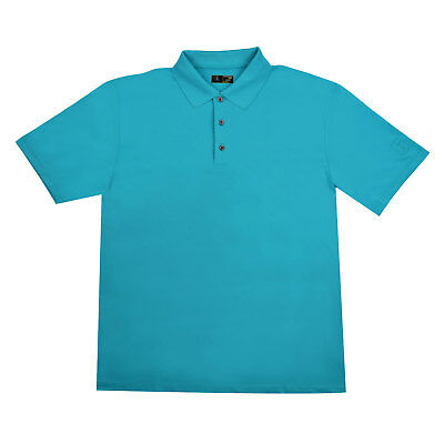 PGA Tour Men's Motionflux 360 Golf Polo in Aqua Sizes Small, Large, and XXL
