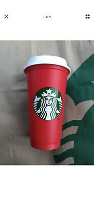 Starbucks Red Reusable Holiday Cup 2018 Limited Edition