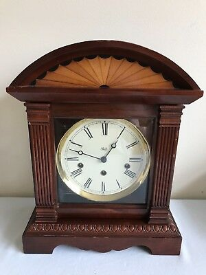 Sligh Mahogany Mantel Clock Model 0577-1-CC  With 4 Sound Modes