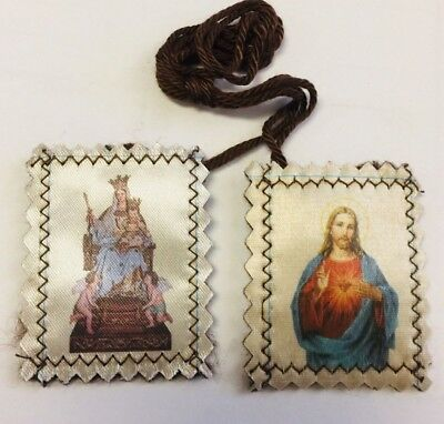 Our Lady of Mount Carmel/Sacred Heart Scapular, New From Jerusalem