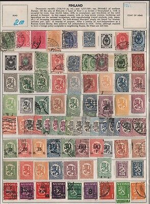 Finland   Lot Of Old Stamps #2M