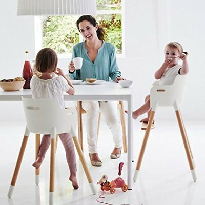 Adjustable Wooden High Chair Baby Highchairs with Tray for Infants/Toddler USA