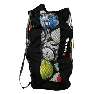 Summit Durable Mesh Ball Bag/Shoulder Strap/Base for Soccer/Football/Rugby/Sport