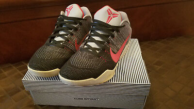 info for 2def9 547e2 USED Nike Kobe 11 XI Elite Low Size 12 Cool Grey Red Black 822675 060 TINKER